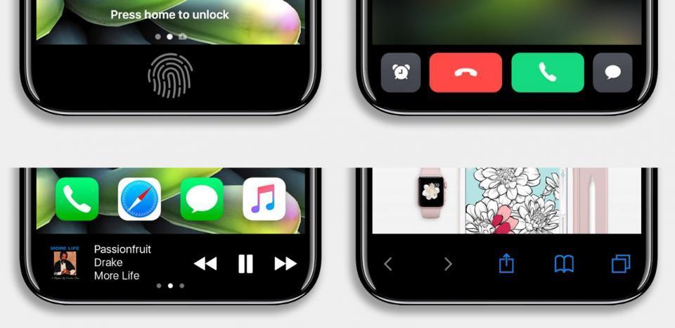 Крупная утечка про дизайн iPhone 8