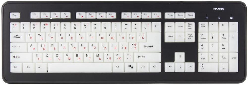 Работать, не включая свет: обзор клавиатуры SVEN KB-C7300EL с подсветкой всей поверхности