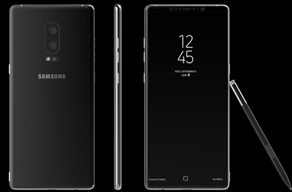 Samsung готовит Galaxy Note 8, который увеличится в размерах