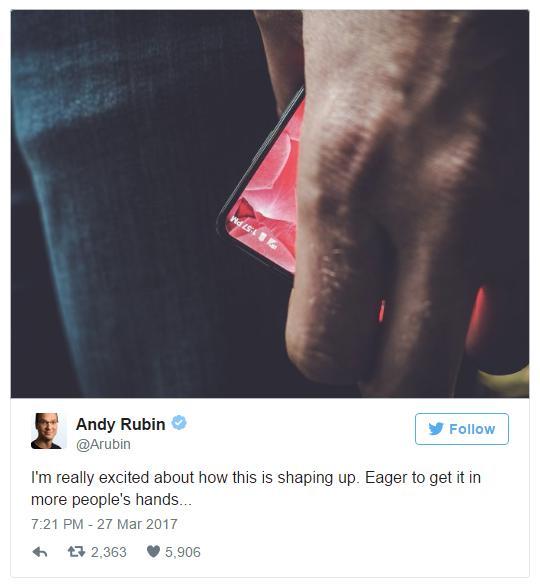 Отец Android показал тизер своего собственного смартфона
