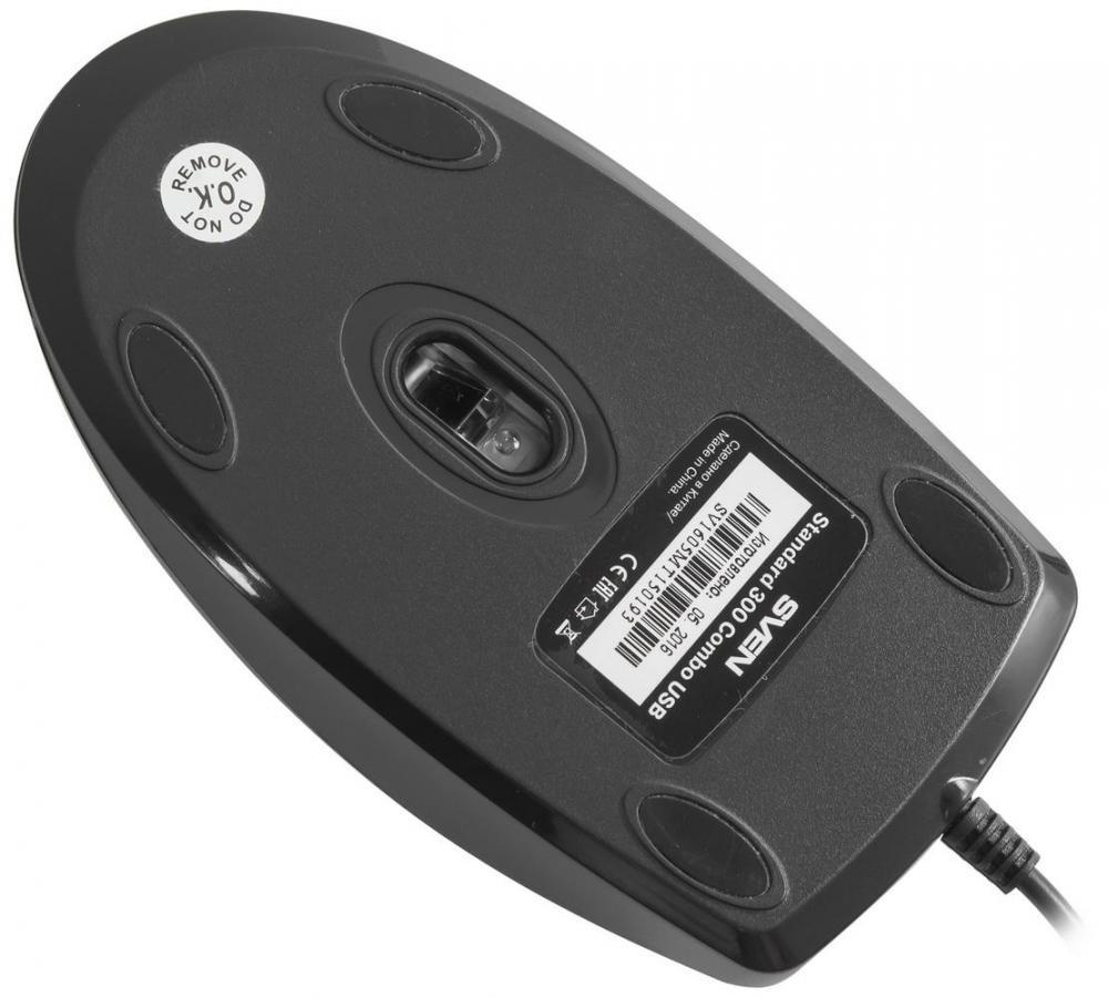 SVEN Standard 300 Сombo: компактные клавиатура и мышь в одном комплекте