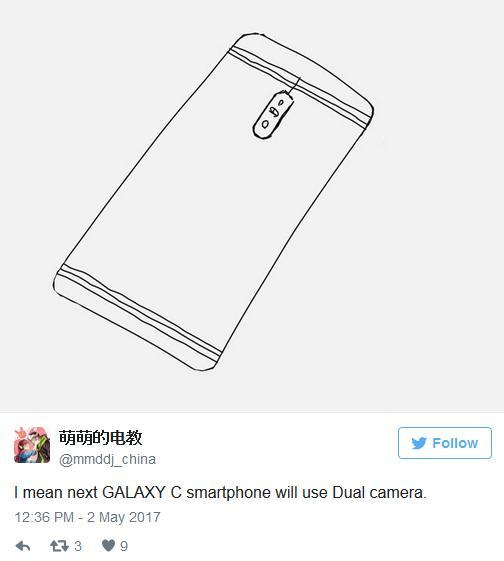 Samsung Galaxy C10 будет первым с двойной камерой
