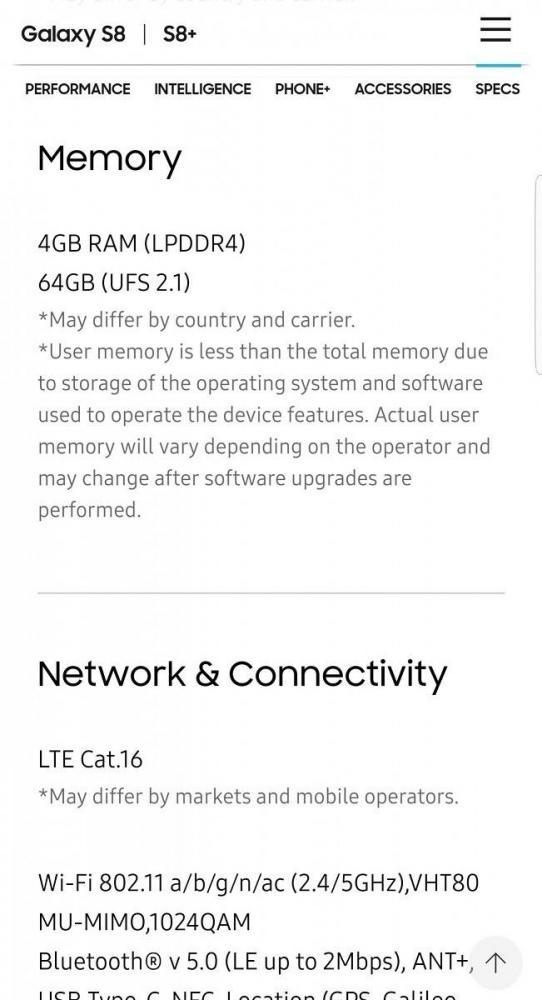 Samsung тоже ставит разные по скорости комплектующие в Galaxy S8