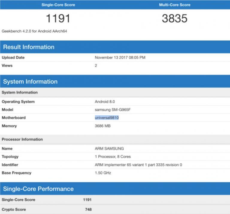 Фейковые результаты бенчмарка Galaxy S9 гуляют по сети