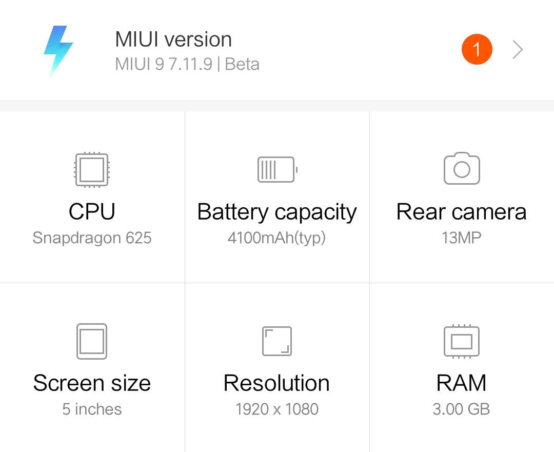 Обновление MIUI 9 7.11.16 для смартфона Redmi 4 Prime/Pro