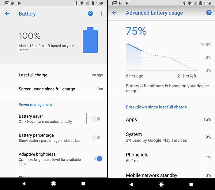 Pixel-смартфоны будут изучать привычки пользователя, чтобы прогнозировать расход батареи