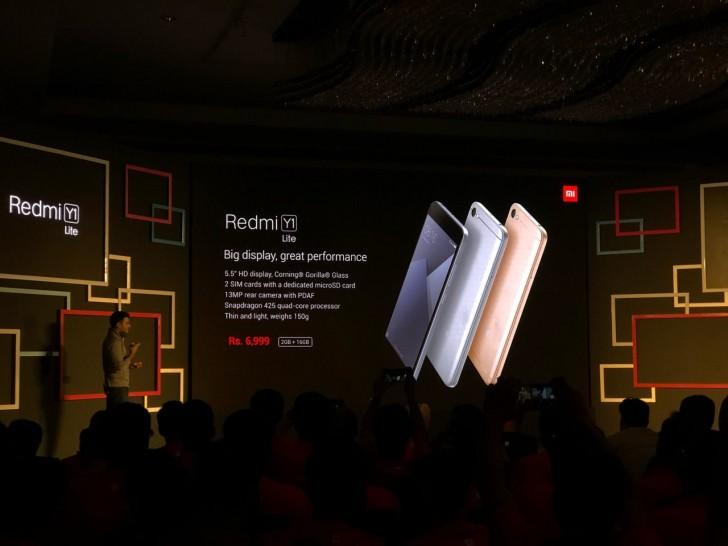 Xiaomi запустила два новых смартфона: Redmi Y1 и Redmi Y1 Lite