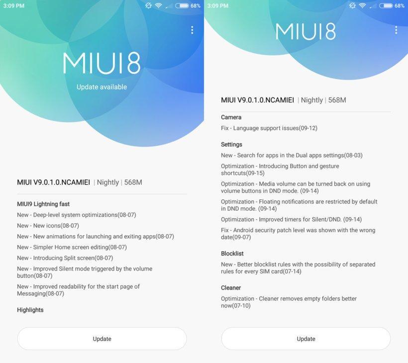 MIUI 9 стали выдавать владельцам Xiaomi Mi 6