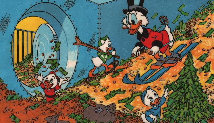 3 версии количества денег у Скруджа Макдака