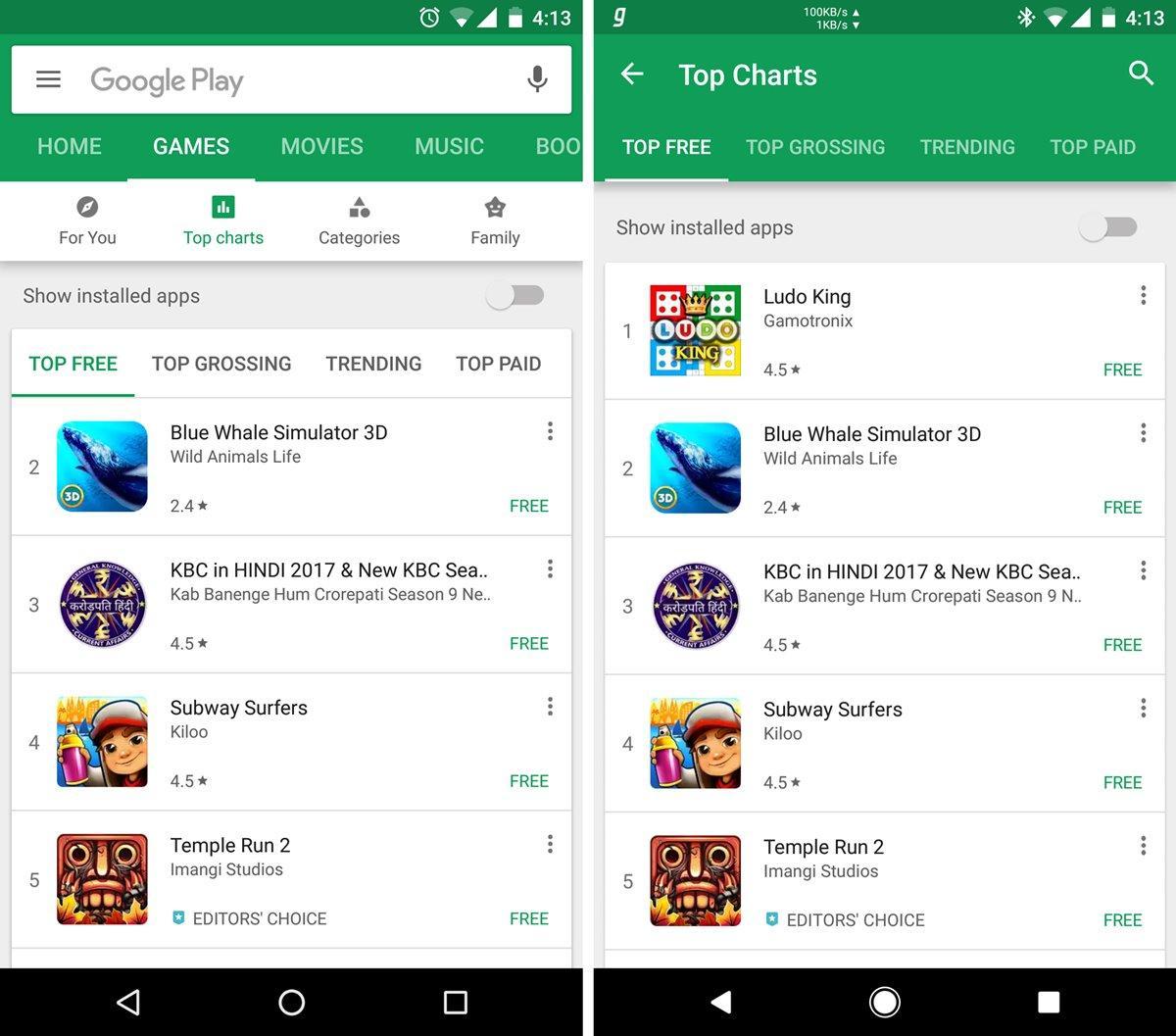 Google снова меняет Play Store