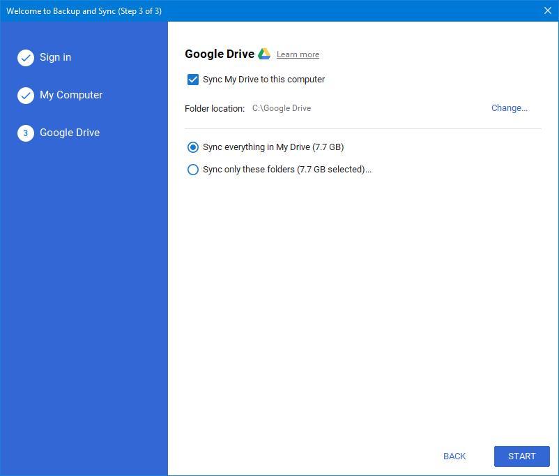 Настраиваем синхронизацию ПКсоблаком спомощью Google Backup and Sync