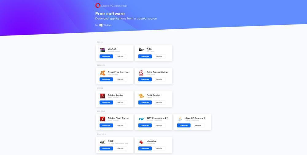 Opera запускает собственный хаббесплатныхприложенийдля Windows