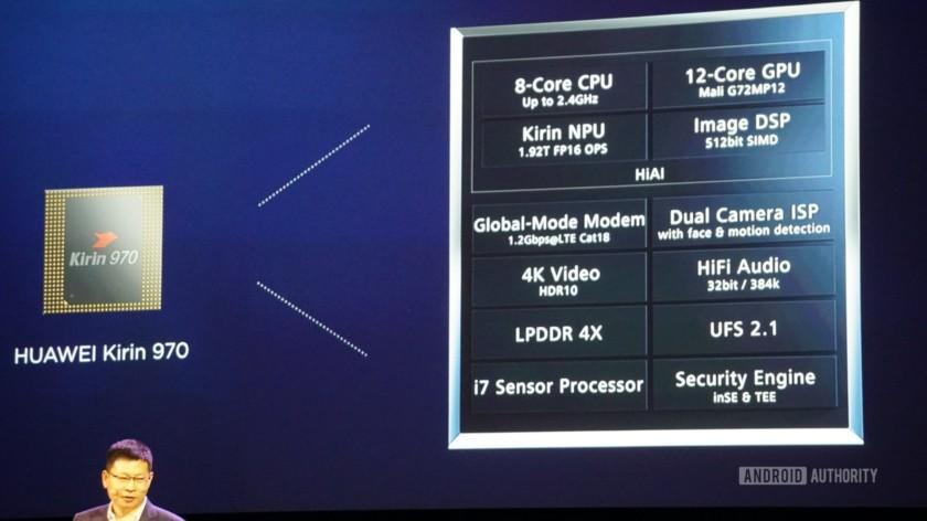 Процессор Huawei Kirin 970 с искусственным интеллектом скоро в смартфонах