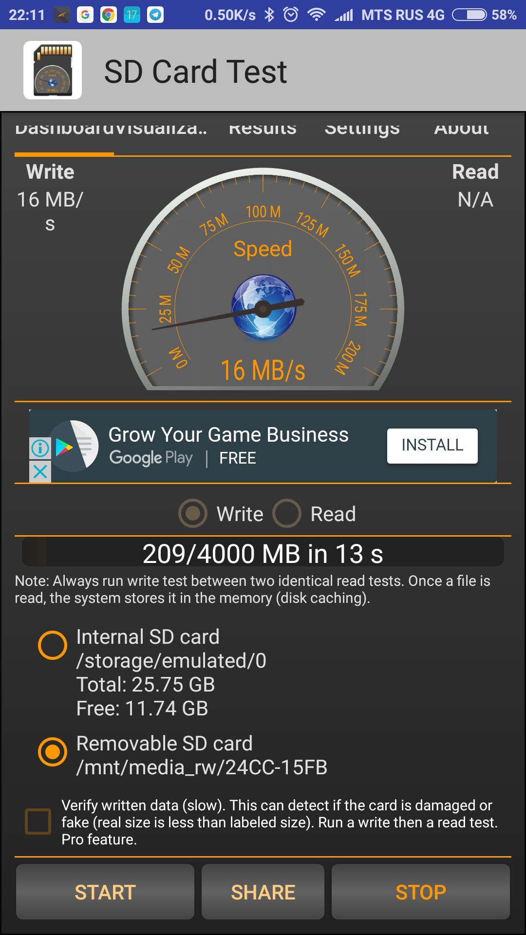 SDCard Test — замеряем скорость чтения-записи карты памяти