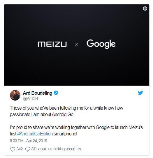 Meizu иGoogle выпустят смартфон наAndroid Goдоконца года