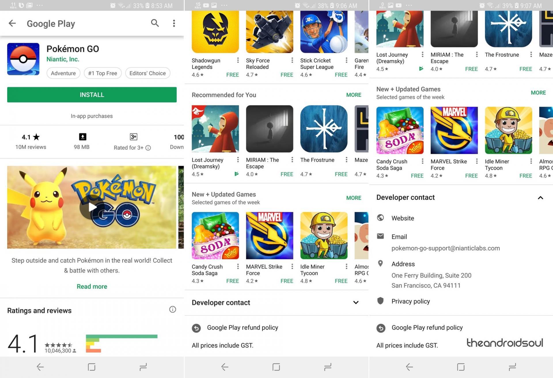 Обновление Play Store доверсии 9.5.09 исписок изменений