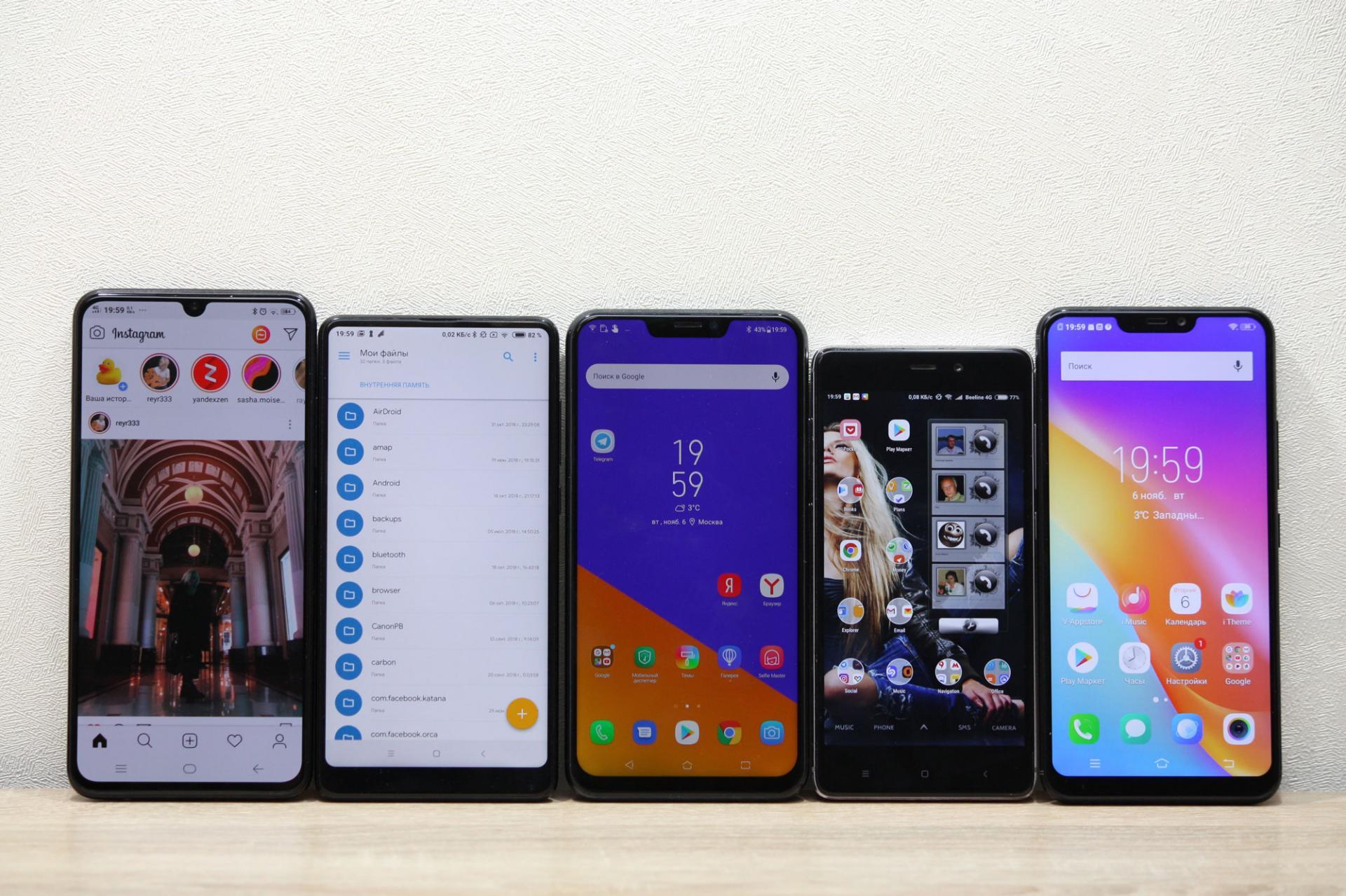 Эти 8 смартфонов получили лучшие экраны в2018 году