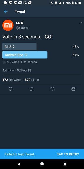 В голосовании Xiaomi оболочка MIUI проиграла голому Android, и оно было удалено