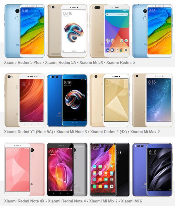 40 смартфонов Xiaomi отведают MIUI 9, ну или уже