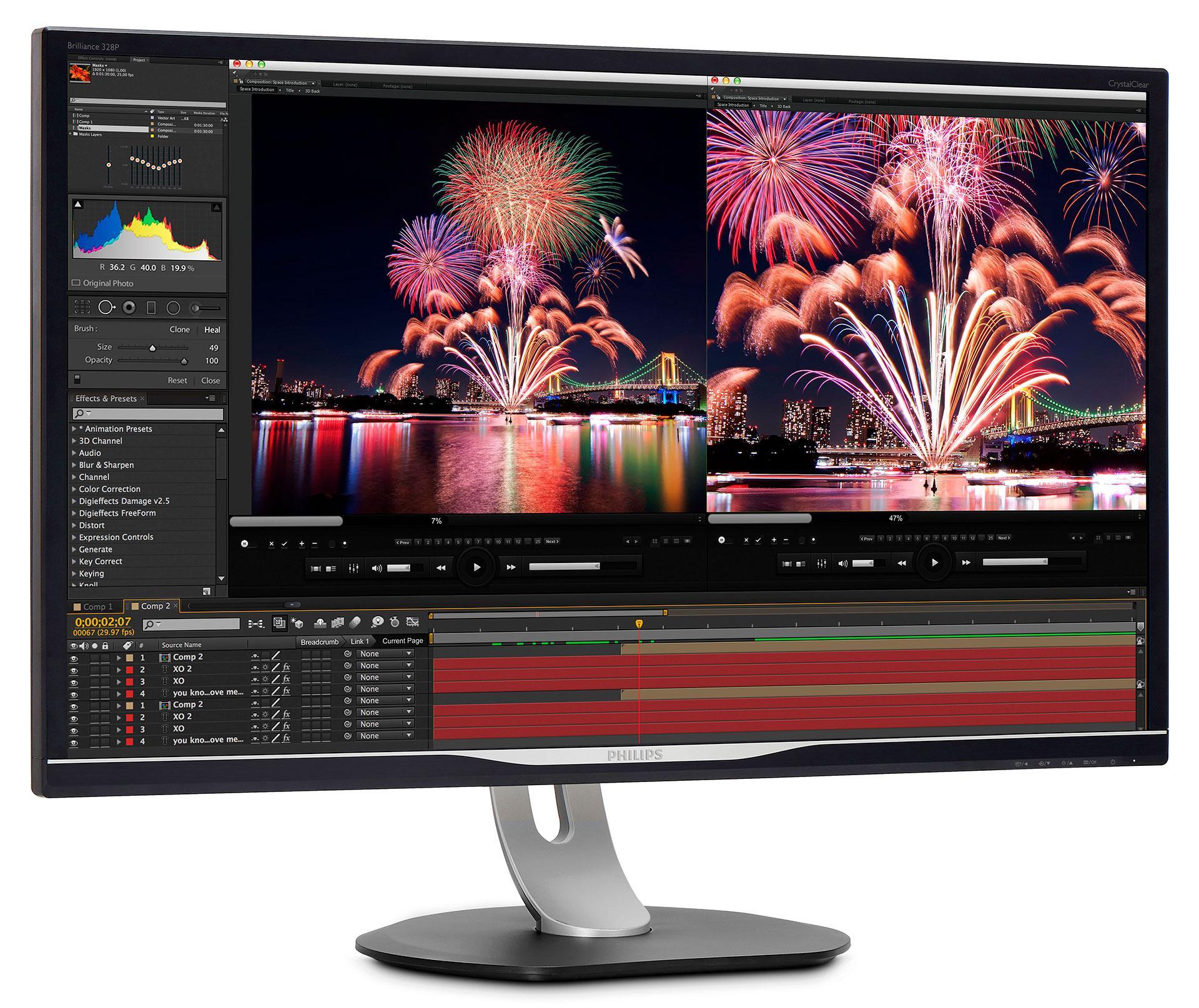 Для профессионалов, которым важны детали: новый монитор Philips 328P6AUBREB