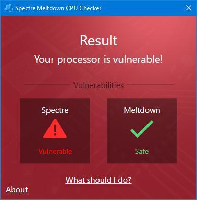 Уязвим ли ваш процессор? Тестируем на брешь к Meltdown и Spectre