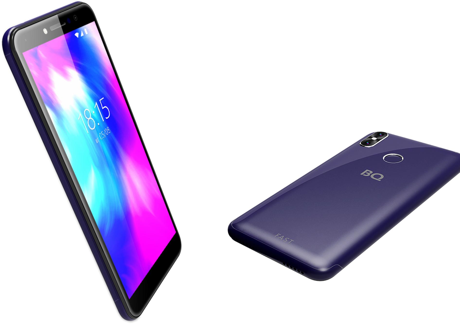 Смартфон BQFast за5490 рублей сдвойной камерой