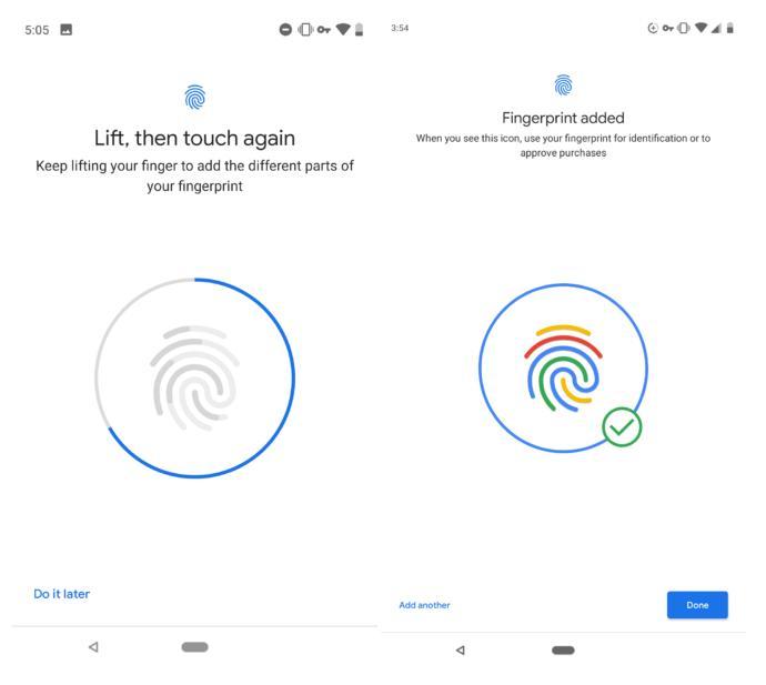 Android PDeveloper Preview 3 вводитновую анимацию отпечатка пальца