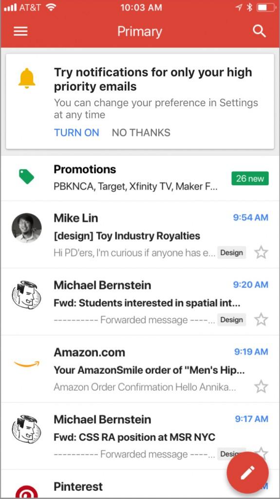 Gmail перестанет беспокоить попустякам. ИИпоможет