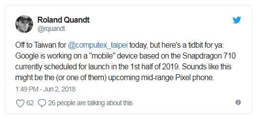 Google может выпустить бюджетный Pixel начипсете Snapdragon 710