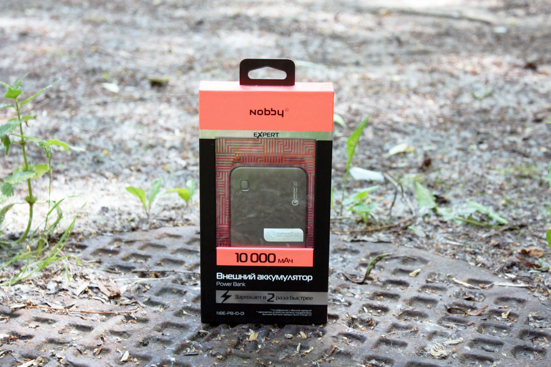 Обзор внешнего аккумулятора Nobby Power Bank Expert (NBE-PB-10-01)