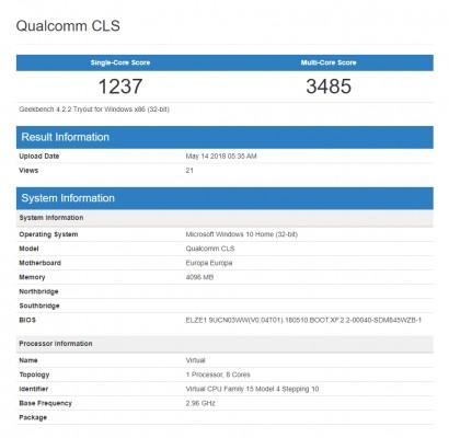 Qualcomm готовит Snapdragon 850 для лаптопов сWindows 10
