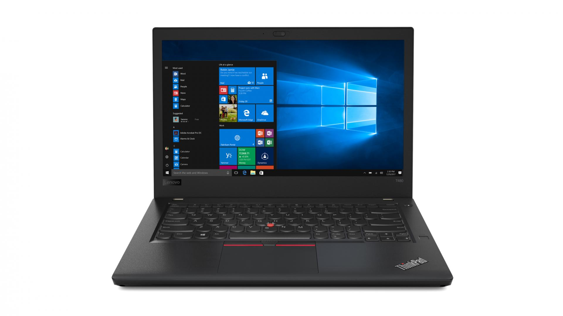 Lenovo анонсировала тройку ноутбуков ThinkPad: T480, T480s иT580