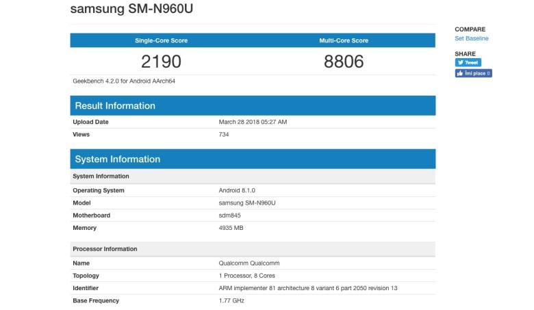 Последняя информация оготовящемся Galaxy Note 9