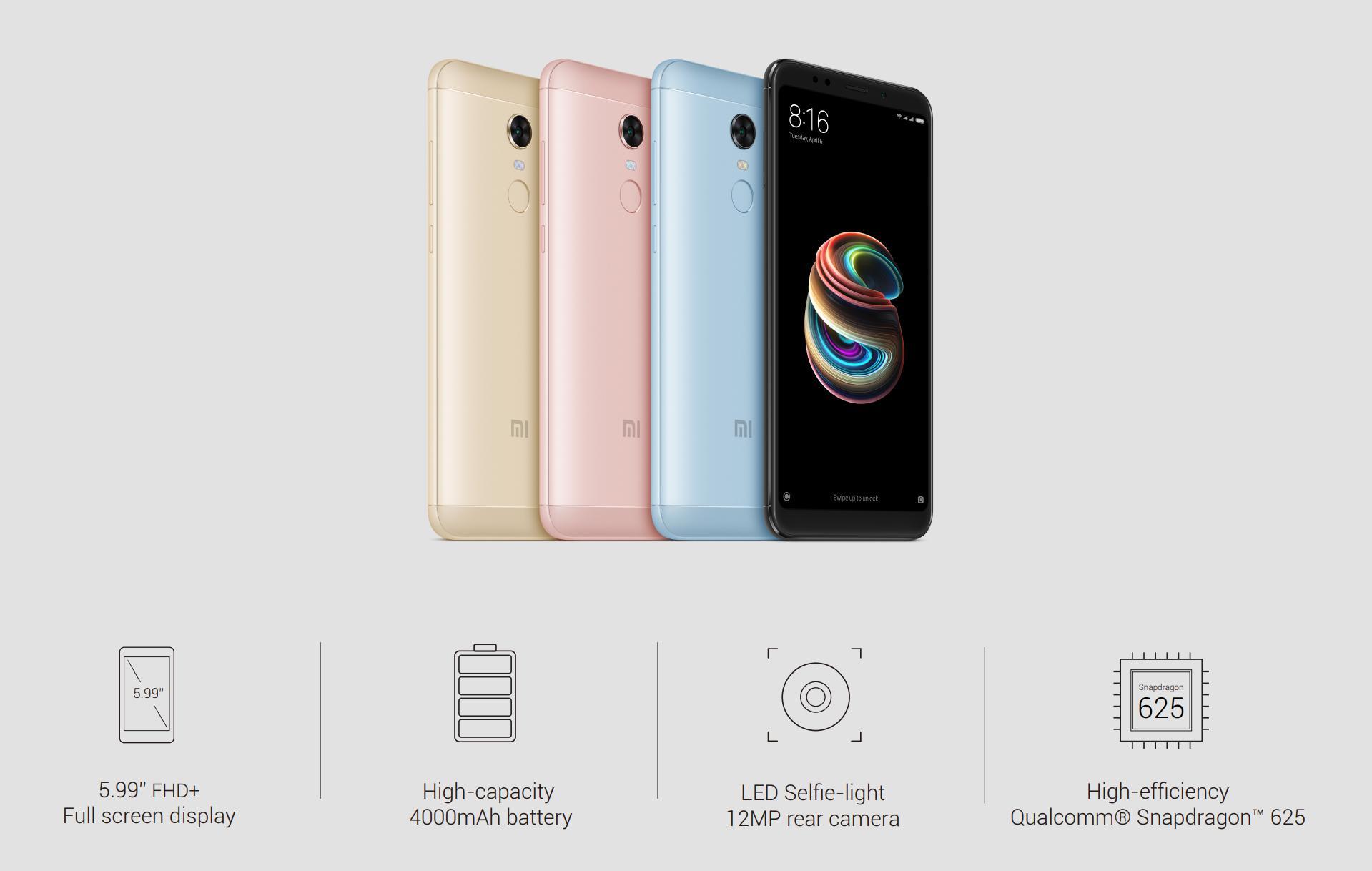 Xiaomi начала продавать вРоссии Redmi 5 иRedmi 5 Plus
