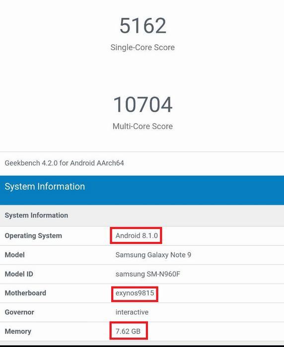 Фейковые результаты тестиования Galaxy Note 9 гуляют посети