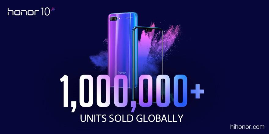 Honor 10 продался миллионным тиражом всего за1 месяц