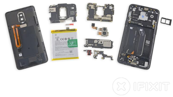 OnePlus 6 получил 5 из10 баллов поремонтопригодности