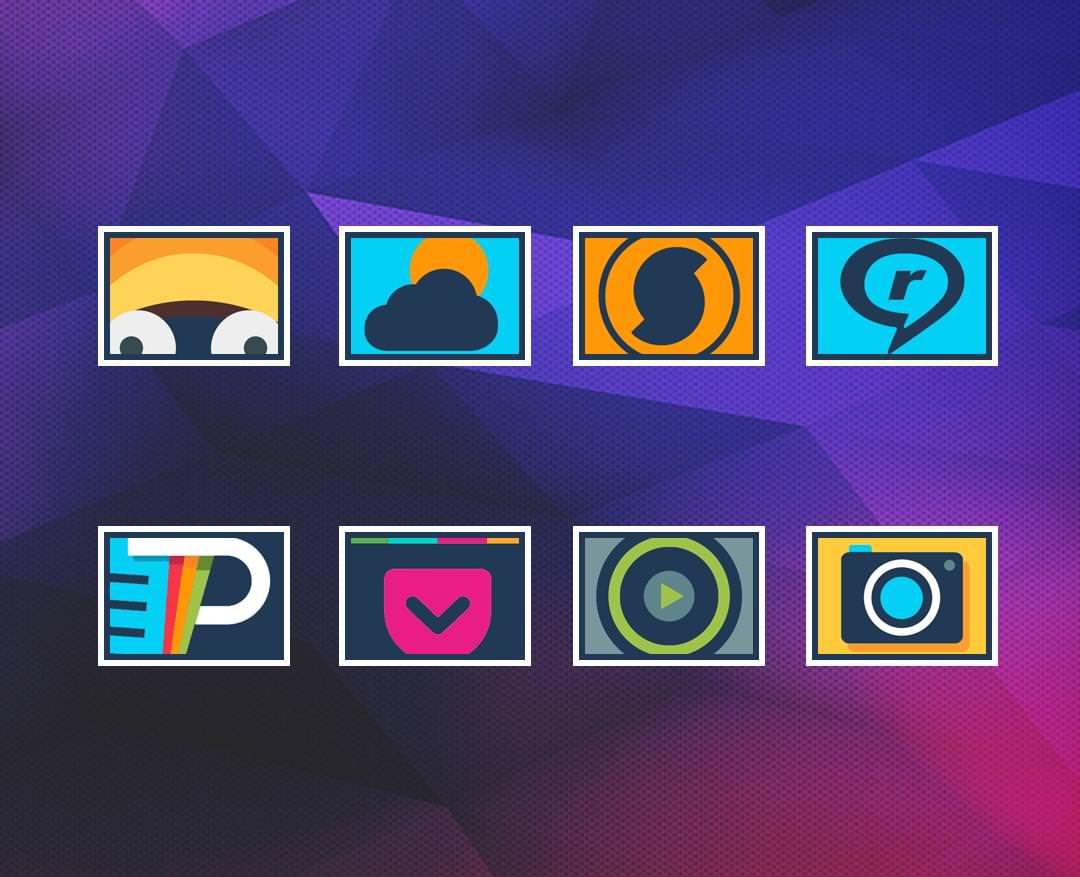 21 набор временнобесплатныхпрофессиональных иконок для Android