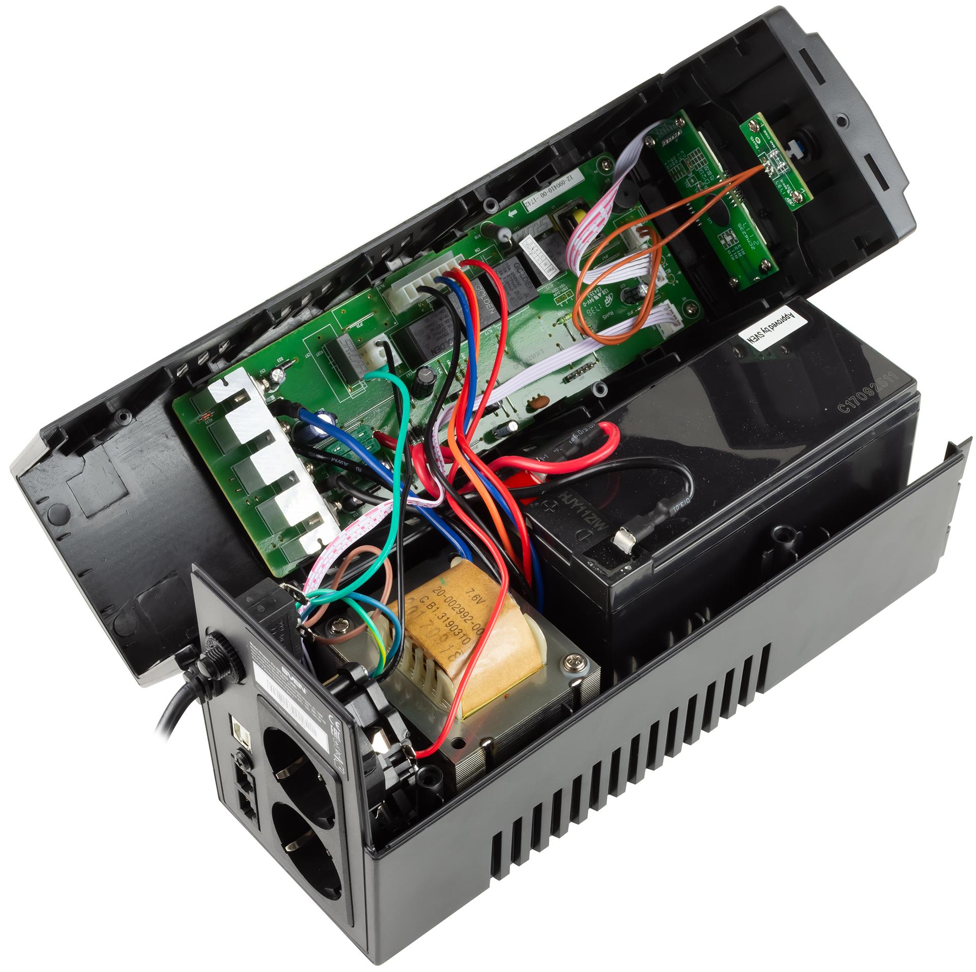 Обзор источника бесперебойного питания SVEN Pro 650 сцифровым дисплеем