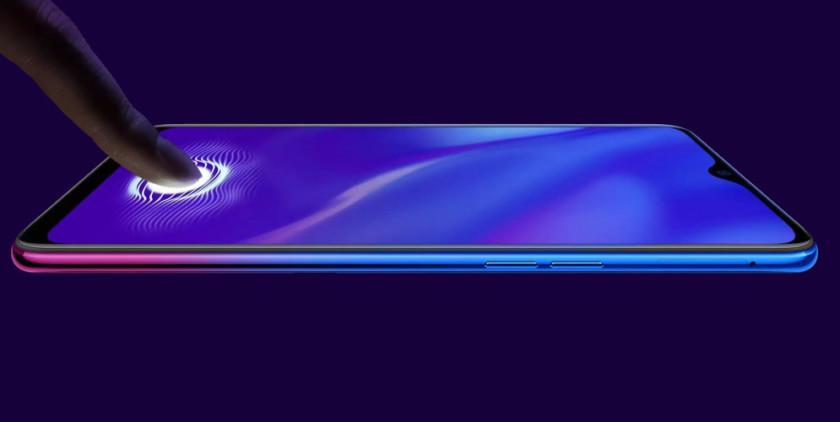 OPPO K1 — первый дешёвый смартфон сподэкранным сканером