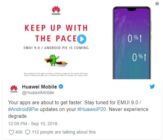 Huawei обещает Android Pie для P20 уже скоро