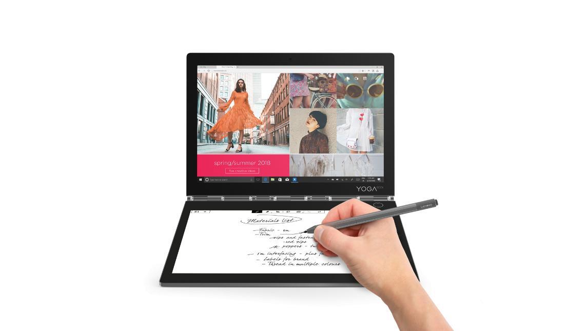 Lenovo Yoga Book C930 получил второй экран стехнологией EInk