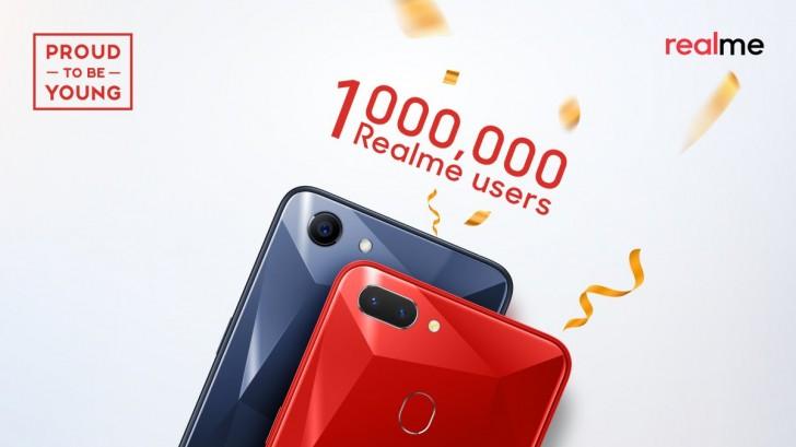 Realme отOPPO проданы тиражом более 1 миллиона штук