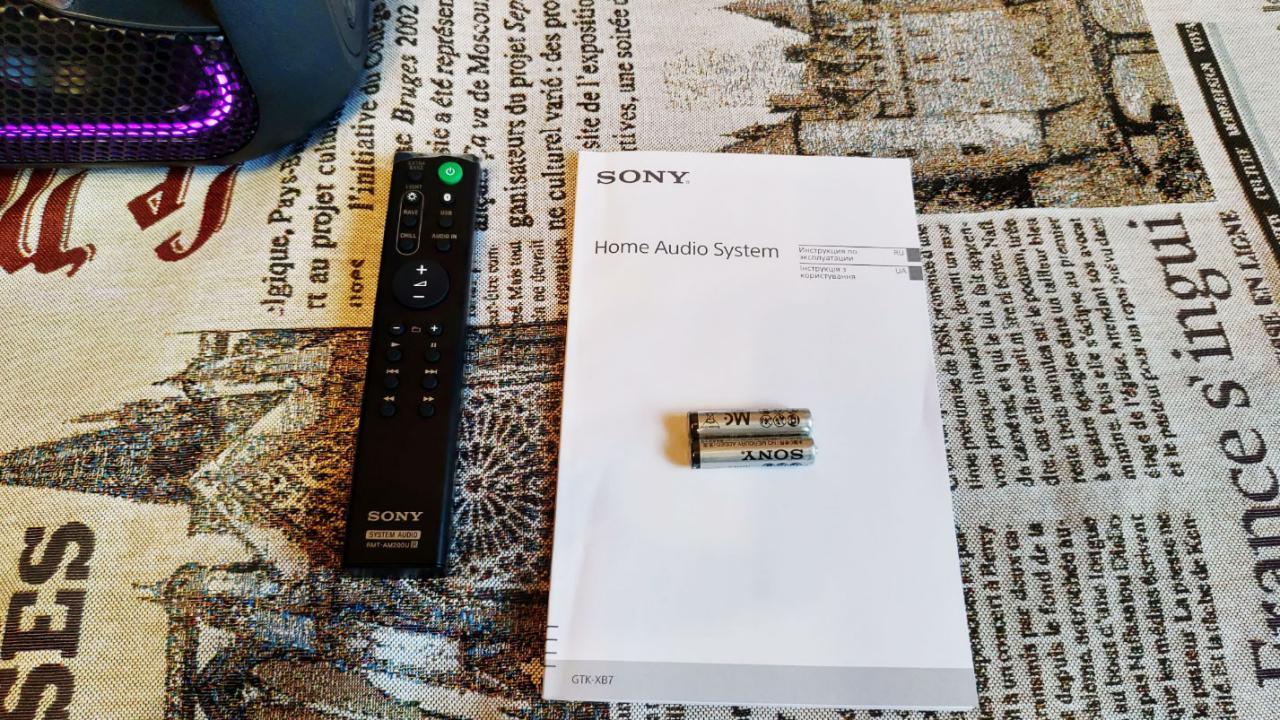 Обзор Sony GTK-XB7 – колонка доминатор