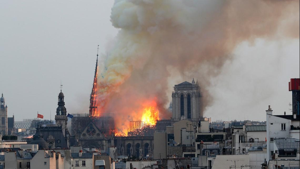 Собор Парижской Богоматери горел более 9 часов. Смогутли восстановить?