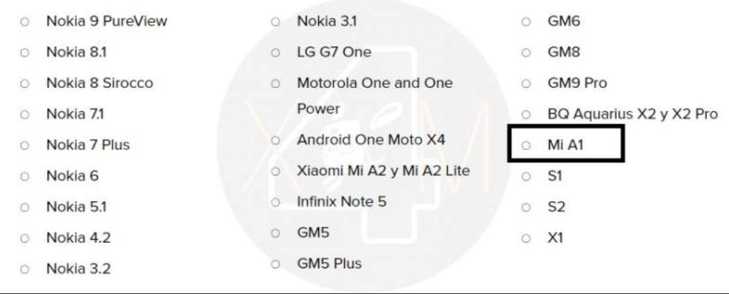 Xiaomi MiA1 может неполучить Android Q
