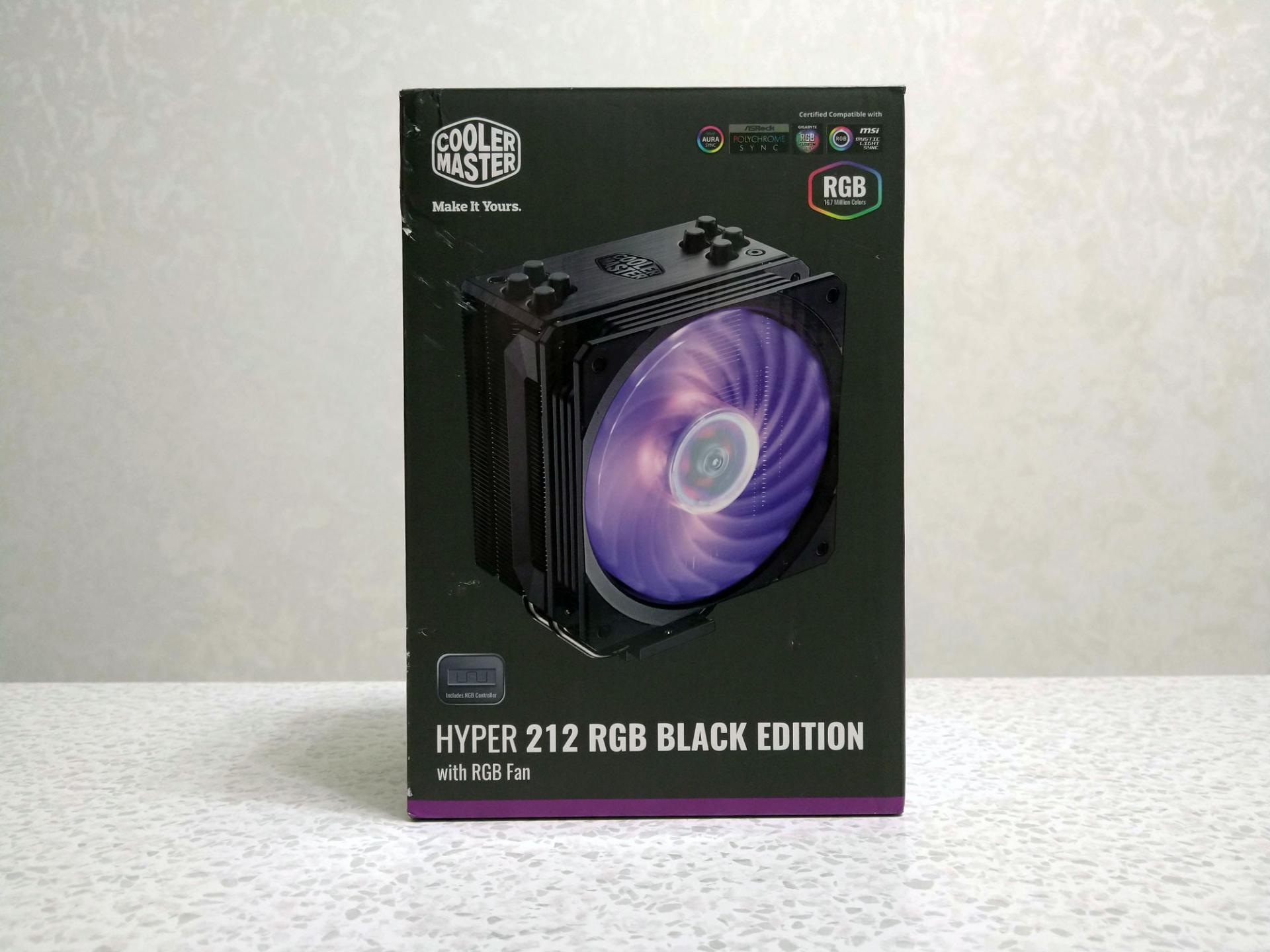 Обзор кулера Cooler Master Hyper 212 RGB Black Edition: заметно охладил иускорил Intel Core i5-8500