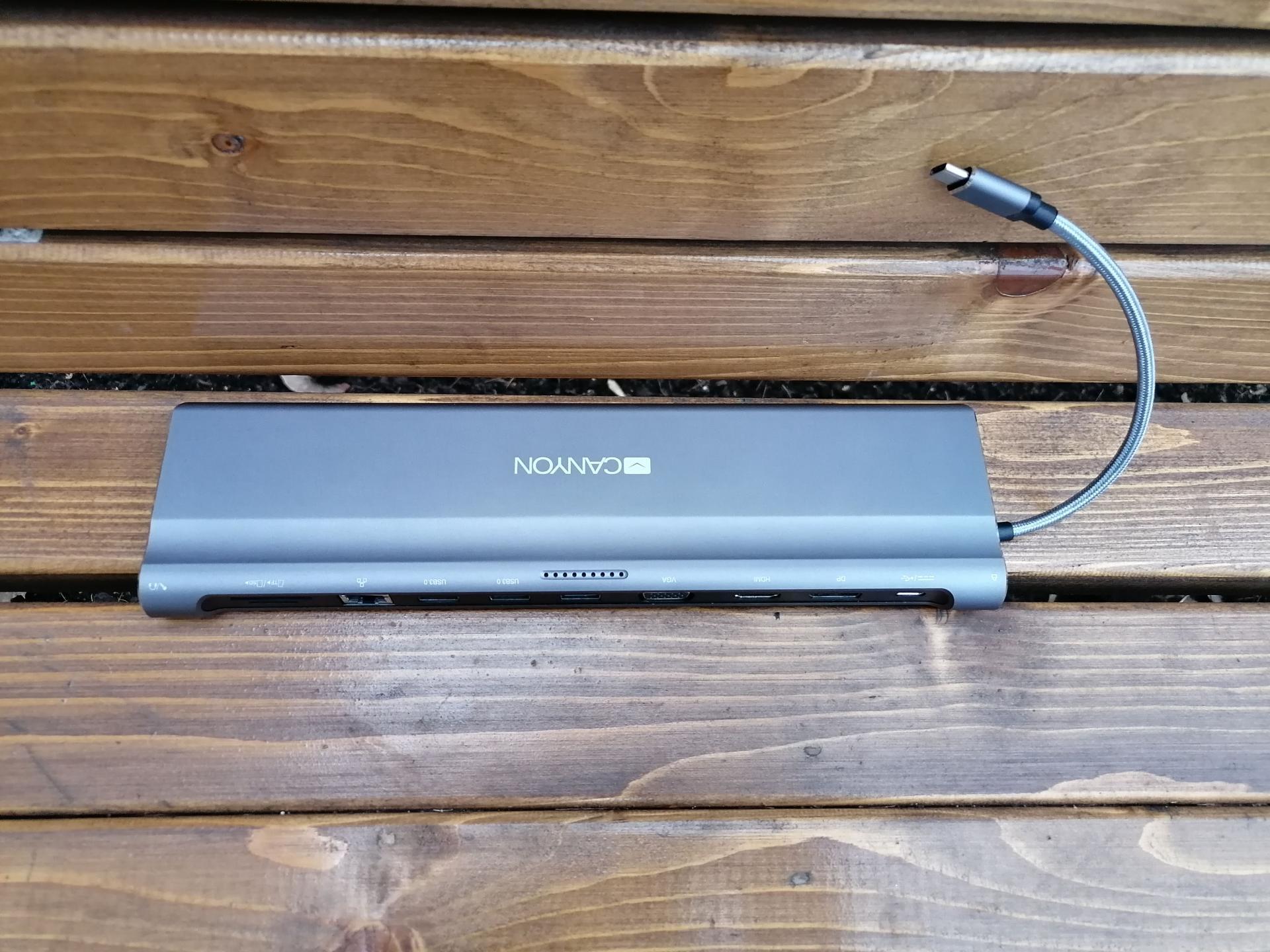 Обзор USB-концентратора Canyon 12-в-1 USB Type C(CNS-HDS09DG)