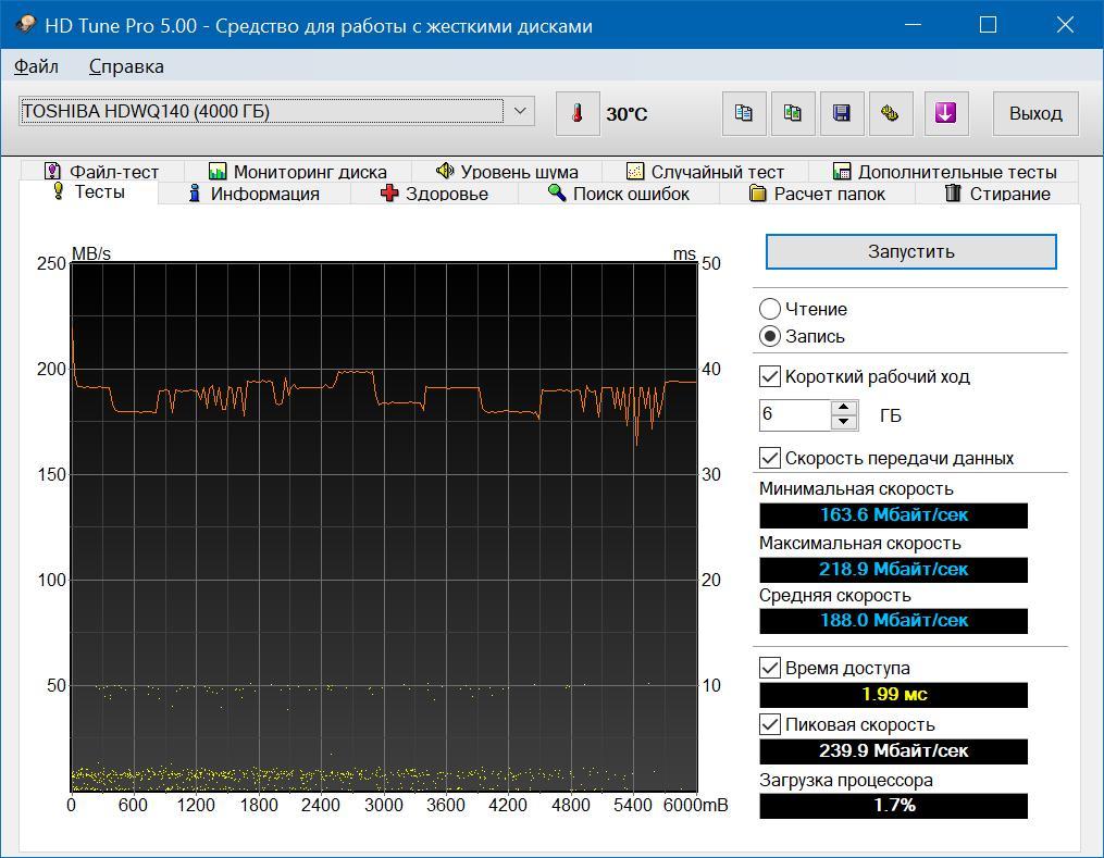 Обзор жёсткого дискаToshiba HDWQ140UZSVA