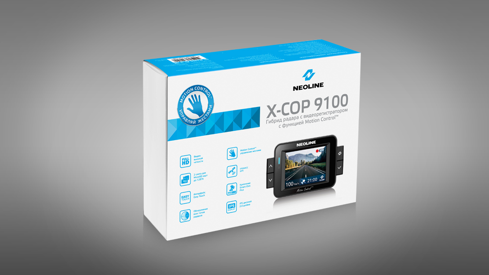 Обзор гибридарадар-детектора ирегистратораNeoline X-COP 9100